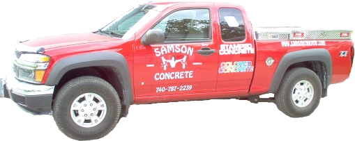 Samson Concrete Work Truck - Central Ohio Concrete Contractor